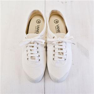 VANEK キャンバススニーカー/ホワイト 38サイズ(24〜24.5cm)【スロバキア製】