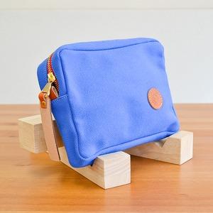 le ondeボックスポーチ/ブルー(日本製)
