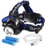 Tomo Light(トモライト) LEDヘッドライト 充電式 地震 台風 大雪 防災 特化型 単眼ライト PSE認証 18650型リチウムイオンバッテリー 2本付属【3個セット】