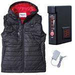 鳳皇 1099 ヒートベスト ブラック XL バッテリーセット(服:1099 + バッテリー:V1333)
