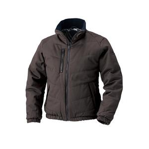村上被服製 6233 ソフト綿素材・保温裏アルミ 防寒ブルゾン ブラウン 3L - 拡大画像