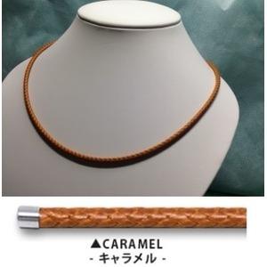 家庭用永久磁石磁気治療器 磁気ネックレス ウルトラネオ (キャラメル:茶) - 拡大画像