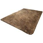 フランネル調タッチラグマット/絨毯 【約3畳 約185cm×230cm ブラウン】 洗える 軽量 ホットカーペット対応 『ガーデン』