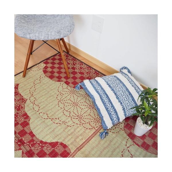 おすすめ!モダン い草ラグ WATSUMUGI ラグマット/絨毯 防カビ加工『わつむぎ』画像12