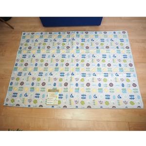 ナチュラルスタイル コットンラグ ラグマット/絨毯 【約1.5畳 約130cm×180cm ブルー】 ホットカーペット 床暖房対応 『poco a poco』