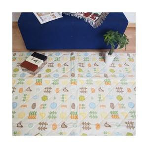 ナチュラルスタイル コットンラグ ラグマット/絨毯 【約1.5畳 約130cm×180cm ベージュ】 ホットカーペット 床暖房対応 『poco a poco』