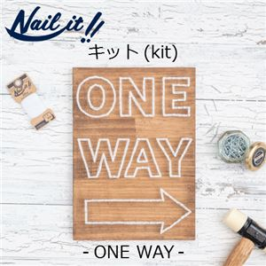 Nail it!!(ネイルイット) キットNo.001 ONE WAY &糸ホワイト(1巻) [ストリングアート] - 拡大画像