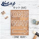Nail it!!(ネイルイット) キットNo.001 ONE WAY &糸ホワイト(1巻) [ストリングアート]