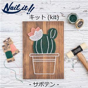 Nail it!!(ネイルイット) キットNo.009 サボテン [ストリングアート] - 拡大画像