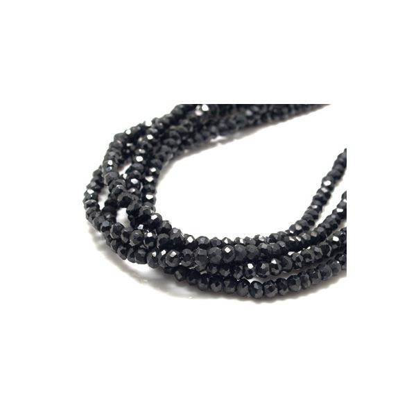ブラックスピネルネックレス・長さ50cm・幅3.5mm ZZNBS-50