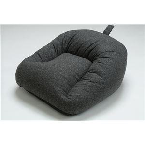 国産 あぐら 座椅子 コンパクト ロー ソファー 1P 1人掛け ファブリック生地 ブラック
