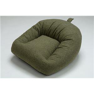 国産 あぐら 座椅子 コンパクト ロー ソファー 1P 1人掛け ファブリック生地 グリーン