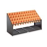 モダン 傘立て 【B48 オレンジ 48本立】 幅972mm スチール 樹脂製脚付 テラモト 『オブリークアーバン』 〔会社 店舗 玄関〕