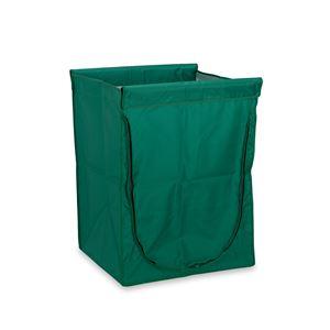 【本体別売】 スタンディングカート/運搬カート用品 【替袋E 緑 ファスナー付 大】 ナイロン製 〔業務用 工場 店舗〕 - 拡大画像