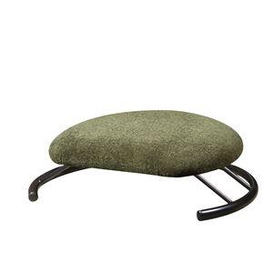 あぐら椅子/正座椅子 【モスグリーン×ブラック】 幅50cm 耐荷重80kg 日本製 スチール 『座ユー』 〔リビング〕