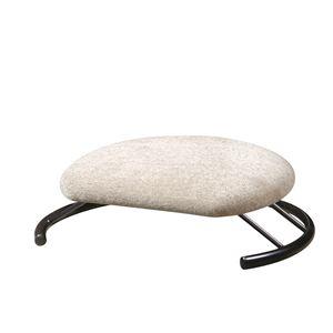 あぐら椅子/正座椅子 【モスホワイト×ブラック】 幅50cm 耐荷重80kg 日本製 スチール 『座ユー』 〔リビング〕