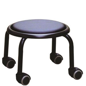 スタッキングチェア/丸椅子 【同色4脚セット ブラック×ブラック】 幅32cm 日本製 スチール  - 拡大画像