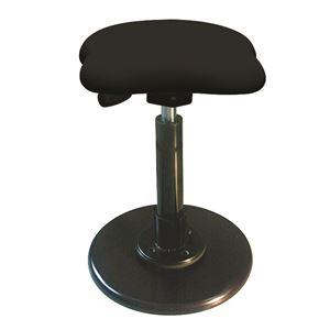 モダン スツール/丸椅子 【ブラック×ブラック】 幅33cm 日本製 スチールパイプ 『ツイストスツールラフレシア3』