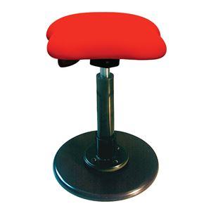 モダン スツール/丸椅子 【レッド×ブラック】 幅33cm 日本製 スチールパイプ 『ツイストスツールラフレシア3』