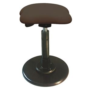 モダン スツール/丸椅子 【ブラウン×ブラック】 幅33cm 日本製 スチールパイプ 『ツイストスツールラフレシア3』