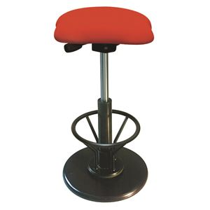 モダン スツール/丸椅子 【フットレスト付き レッド×ブラック】 幅33cm 日本製 『ツイストスツールラフレシア3R』