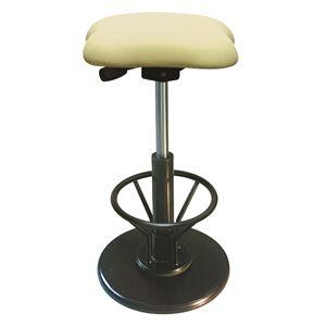 モダン スツール/丸椅子 【フットレスト付き アイボリー×ブラック】 幅33cm 日本製 『ツイストスツールラフレシア3R』 - 拡大画像