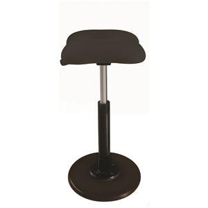 モダン スツール/丸椅子 【ブラック×ブラック】 幅33cm 日本製 『ツイストスツールラフレシア Kモーション』