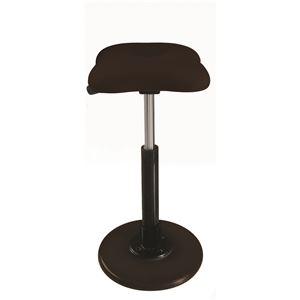 モダン スツール/丸椅子 【ブラウン×ブラック】 幅33cm 日本製 『ツイストスツールラフレシア Kモーション』