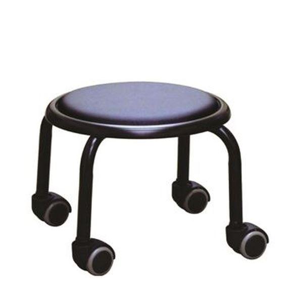 スタッキングチェア/丸椅子 【1脚販売 ブラック×ブラック】 幅32cm 日本製 スチール