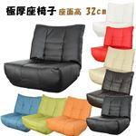 極厚座面座椅子 ブラック (BK) 一人掛け ローソファー 座いす