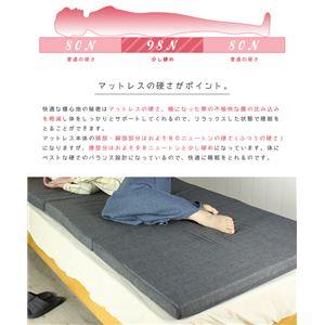 バランスマットレス 無地 ブラック (BK)  全5色 3つ折り 寝具 マットレス