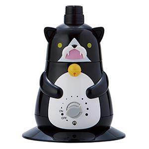 超音波式ペットボトル加湿器 ブラック 【約2〜4畳用】 - 拡大画像
