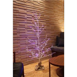 ブランチツリー 150cm ホワイト×ブルー - 拡大画像
