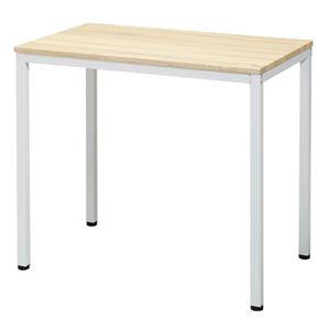 センターテーブル/パソコンデスク 【ナチュラル】 約幅80cm アジャスター フェルト付 組立品 ヴィンテージデスク 〔リビング〕 - 拡大画像