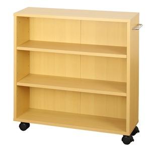 オープンラック 木製 収納ラック おしゃれ マルチラック ラック シェルフ クローゼット 押入れ 書棚 収納 幅63×奥行17×高さ64cm ナチュラル - 拡大画像