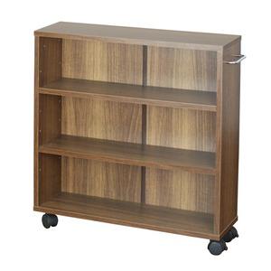 オープンラック 木製 収納ラック おしゃれ マルチラック ラック シェルフ クローゼット 押入れ 書棚 収納 幅63×奥行17×高さ64cm ブラウン - 拡大画像