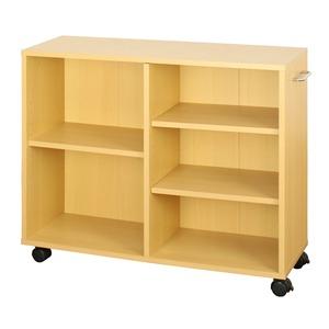 オープンラック 木製 収納ラック おしゃれ マルチラック ラック シェルフ クローゼット 押入れ 書棚 収納 幅78×奥行25×高さ64cm ナチュラル - 拡大画像