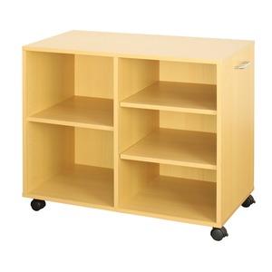 オープンラック 木製 収納ラック おしゃれ マルチラック ラック シェルフ クローゼット 押入れ 書棚 収納 幅78×奥行38×高さ64cm ナチュラル - 拡大画像