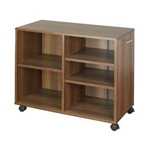 オープンラック 木製 収納ラック おしゃれ マルチラック ラック シェルフ クローゼット 押入れ 書棚 収納 幅78×奥行38×高さ64cm ブラウン