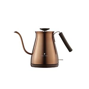 電気ケトル カッパー ケトル おしゃれ 電気ケトル おしゃれ 電気ケトル コーヒー ドリップケトル 電気 おしゃれ 細口 本格 ステンレス ドリップ コーヒー 0.7L 2〜3杯 湯沸 - 拡大画像