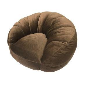 シングルソファー/座椅子 【ブラウン】 1人掛け コンパクトスタイル 中材:ウレタンフォーム、ポリエステルわた