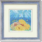 くりのきはるみ ジグレーアートフレーム KH-10120 海の花畑
