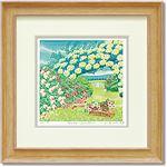 くりのきはるみ ジグレーアートフレーム KH-10122 Rose garden