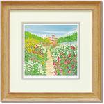 くりのきはるみ ジグレーアートフレーム KH-10127 花咲く小道