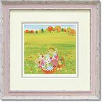 くりのきはるみ ジグレーアートフレーム KH-10137 秋の花かご