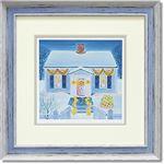 くりのきはるみ ジグレーアートフレーム KH-10138 snowy home