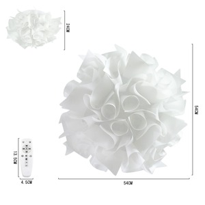 リモコンで調光調色 花のようなシーリングライト 【Latria(ラトリーア)】 3600lm 演色性Ra85 簡単設置 おしゃれ 花柄 ペンダント ライト リビング 可愛い 落ち着く 美しい 天井 照明