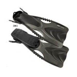 シュノーケルフィン/足ひれ 【ストラップ型 S/Mサイズ ブラック BK】 メンズ レディース 軽量 『SPEEDY ISTPROLINE FK-30』 - 拡大画像
