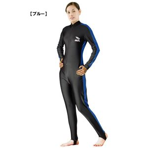 ラッシュガード スーツ レディース ダイブスキン ウエットスーツ インナー 女性用 ISTPROLINE DS-20 7 ブルー(B)