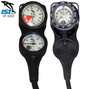 ダイビング 重器材 水深計・残圧計・コンパス 3ゲージ トリプルゲージコンソール IST PROLINE GP-9200 3ゲージ